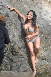 Christina Milian - Bikini Photoshoot in Malibu 05/15/2019