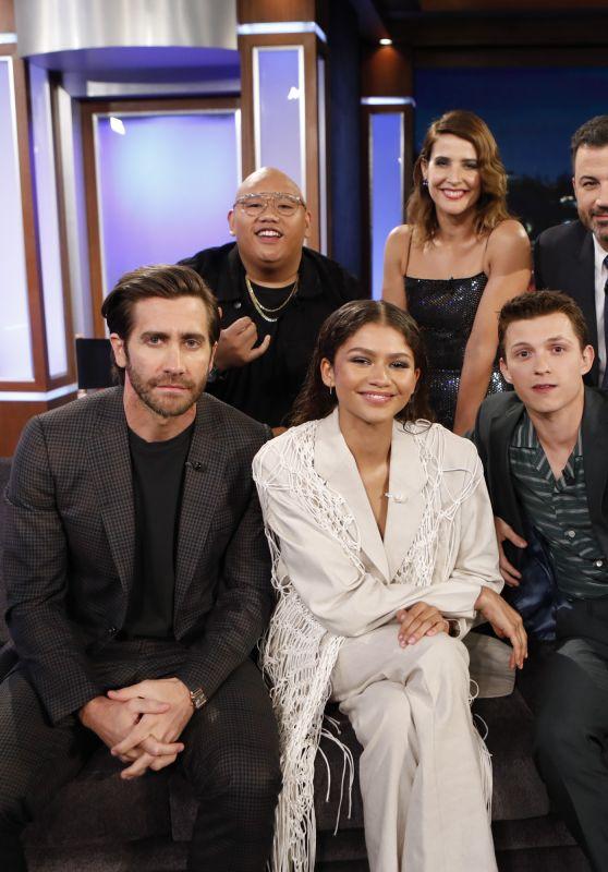 Cobie Smulders and Zendaya Coleman - Jimmy Kimmel Live 05/09/2019
