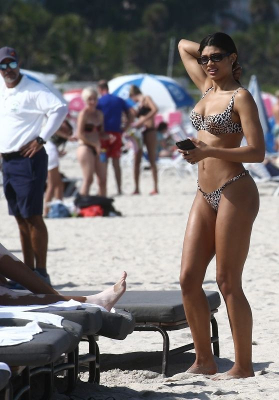 Danielle Herrington in a Bikini on the Beach in Miami 05/09/2019