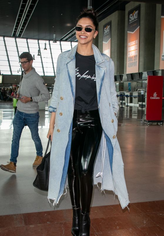 Deepika Padukone Style - Nice Airport in France 05/18/2019