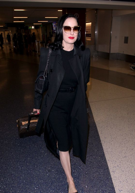 Dita Von Teese - LAX Airport in Los Angeles 05/20/2019