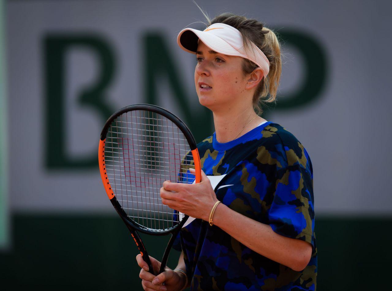 Elina Svitolina – Practises During the Roland Garros in ...