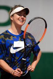 Elina Svitolina – Practises During the Roland Garros in Paris 05/24/2019