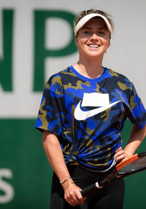 Elina Svitolina – Practises During the Roland Garros in Paris 05/24/2019