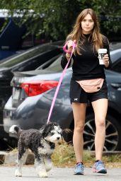 Elizabeth Olsen Leggy in Shorts - Out in Hollywood Hills 05/16/2019