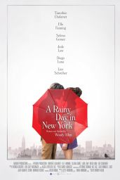 "Elle Fanning - ""A Rainy Day in New York"" Poster, Photo and Trailer 2019"