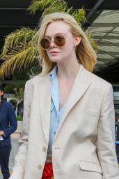 Elle Fanning - Arriving at Nice Airport 05/12/2019