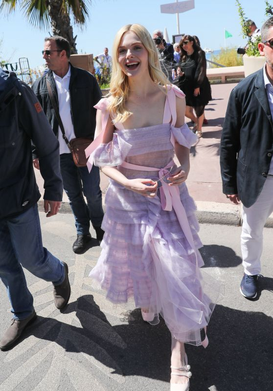 Elle Fanning at the Martinez Hotel in Cannes 05/14/2019