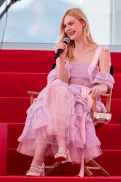 Elle Fanning - Interview on the Croisette in Cannes 05/14/2019