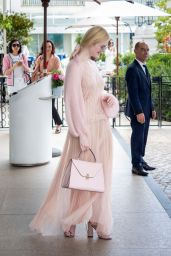 Elle Fanning - Leaving Hotel Martinez in Cannes 05/23/2019