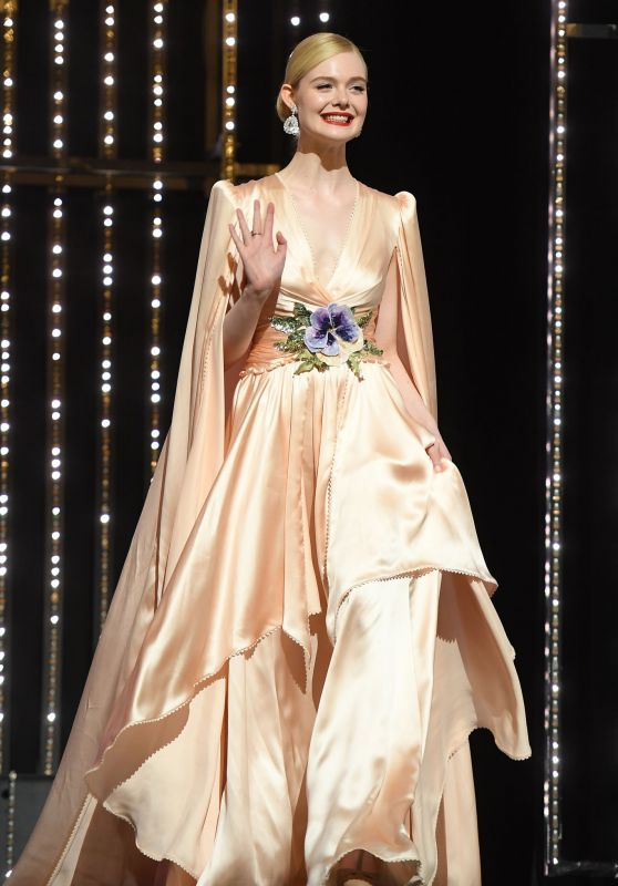 Elle Fanning - On Stage of the Opening Ceremony of Cannes Film Festival 05/14/2019