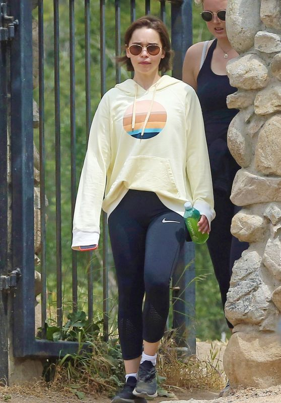 Emilia Clarke in Tights - Goes for a Hike in Los Angeles 05/02/2019