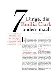 Emilia Clarke - myself Magazine June 2019 Issue