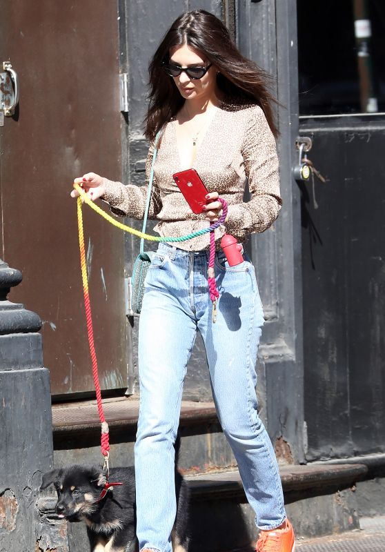 Emily Ratajkowski - Walks her Dog in New York 05/21/2019
