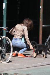 Emily Ratajkowski - Walks her Dog in New York 05/21/2019