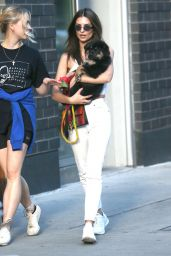 Emily Ratajkowski - Walks Her Puppy Colombo in NYC 05/22/2019