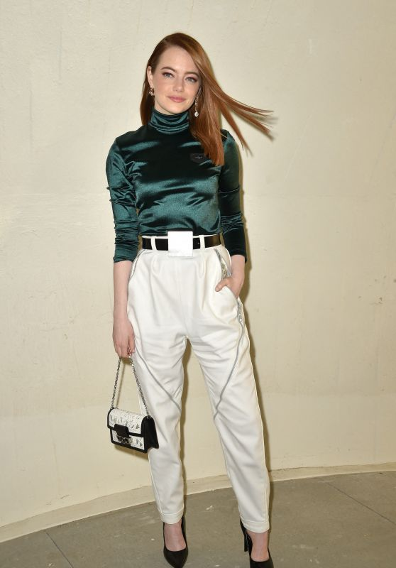 Emma Stone – Louis Vuitton Cruise 2020 Fashion Show in NYC 05/08/2019