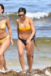 Frankie Bridge in Bikini on the Beach in Miami 05/20/2019