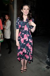 "Hayley Atwell - ""Rosmersholm"" Theatre Cast Departures, London 05/13/2019"