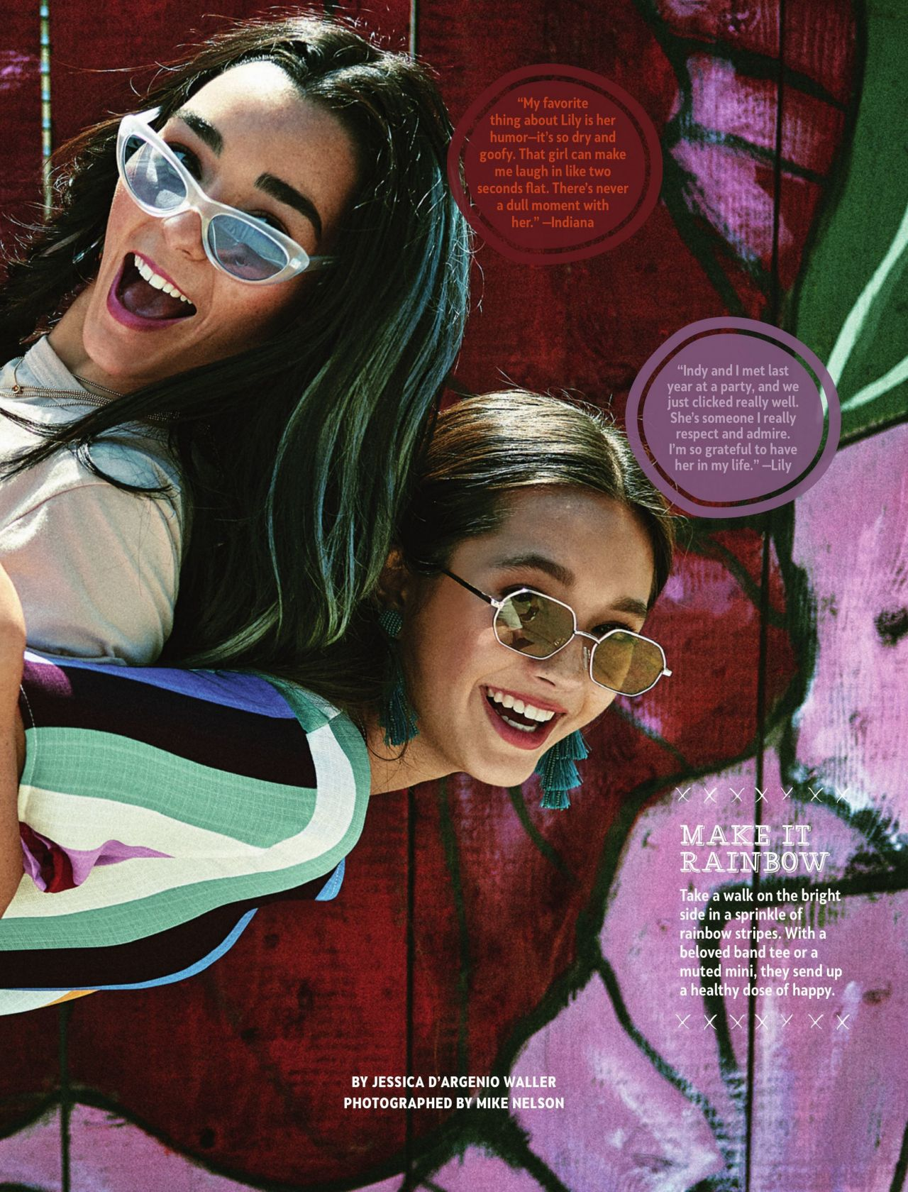 a639a94ba242c5 Indiana Massara and Lily Chee – Girls' Life Magazine June/July 2019 Issue
