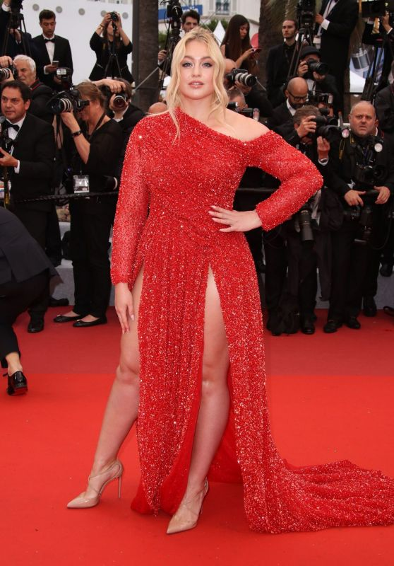 "Iskra Lawrence – ""The Best Years of a Life"" Red Carpet at Cannes Film Festival"