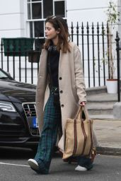 Jenna-Louise Coleman - Heads to the Theatre in London 04/30/2019