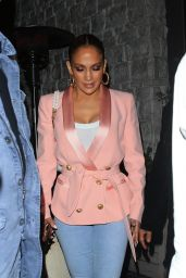 Jennifer Lopez Night Out Style - Avra in Beverly Hills 05/27/2019