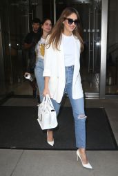 Jessica Alba - Heading to The Late Show in NYC 05/16/2019