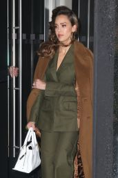 Jessica Alba in a Pee Green Suit - New York City 05/13/2019