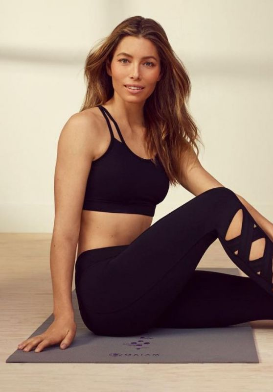 Jessica Biel - Gaiam Yoga Wear 2019 Collection