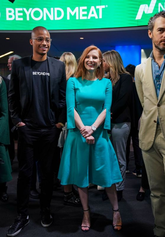 Jessica Chastain - Nasdaq MarketSite in NYC 05/02/2019