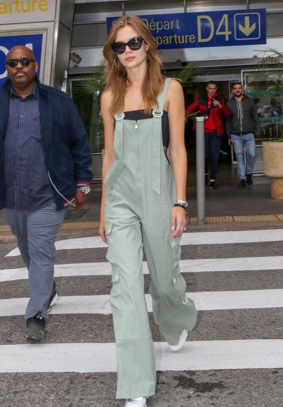 Josephine Skriver at Nice Airport 05/18/2019