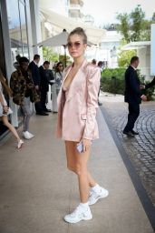 Josephine Skriver at the Martinez Hotel in Cannes 05/19/2019
