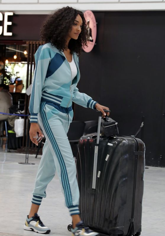 Jourdan Dunn - Leaving at Nice Airport at Cannes Film Festival 2019