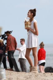 Kaia Gerber - Filming a New Add Campaign for Marc Jacobs Daisy Perfume in Malibu 05/08/2019