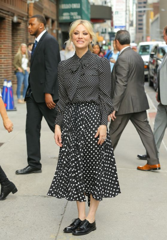 "Kaley Cuoco - Outside ""The Late Show with Stephen Colbert"" in NYC 05/16/2019"