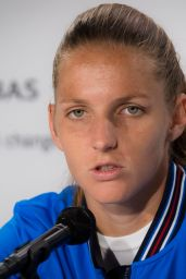 Karolina Pliskova – Talks to the Press Ahead of the Roland Garros in Paris 05/24/2019