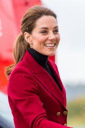 Kate Middleton - Caernarfon Coastguard Search and Rescue Helicopter Base in Caernarfon, Wales 05/08/2019