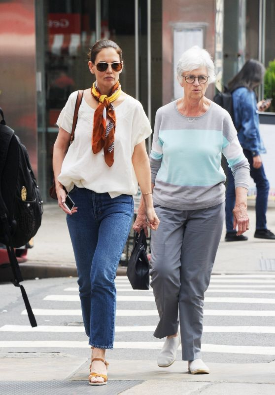 Katie Holmes With Her Mom - Out in NYC 05/20/2019