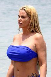 Katie Price in a Blue Bikini - Turkey 04/25/2019