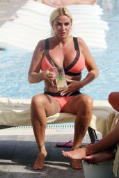 Katie Price in Bikini on Holiday in Turkey 05/16/2019