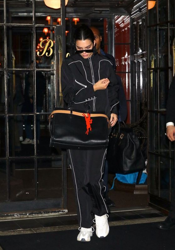 Kendall Jenner in a Black Track Suit - Leaves the Bowery Hotel in NYC 05/13/2019
