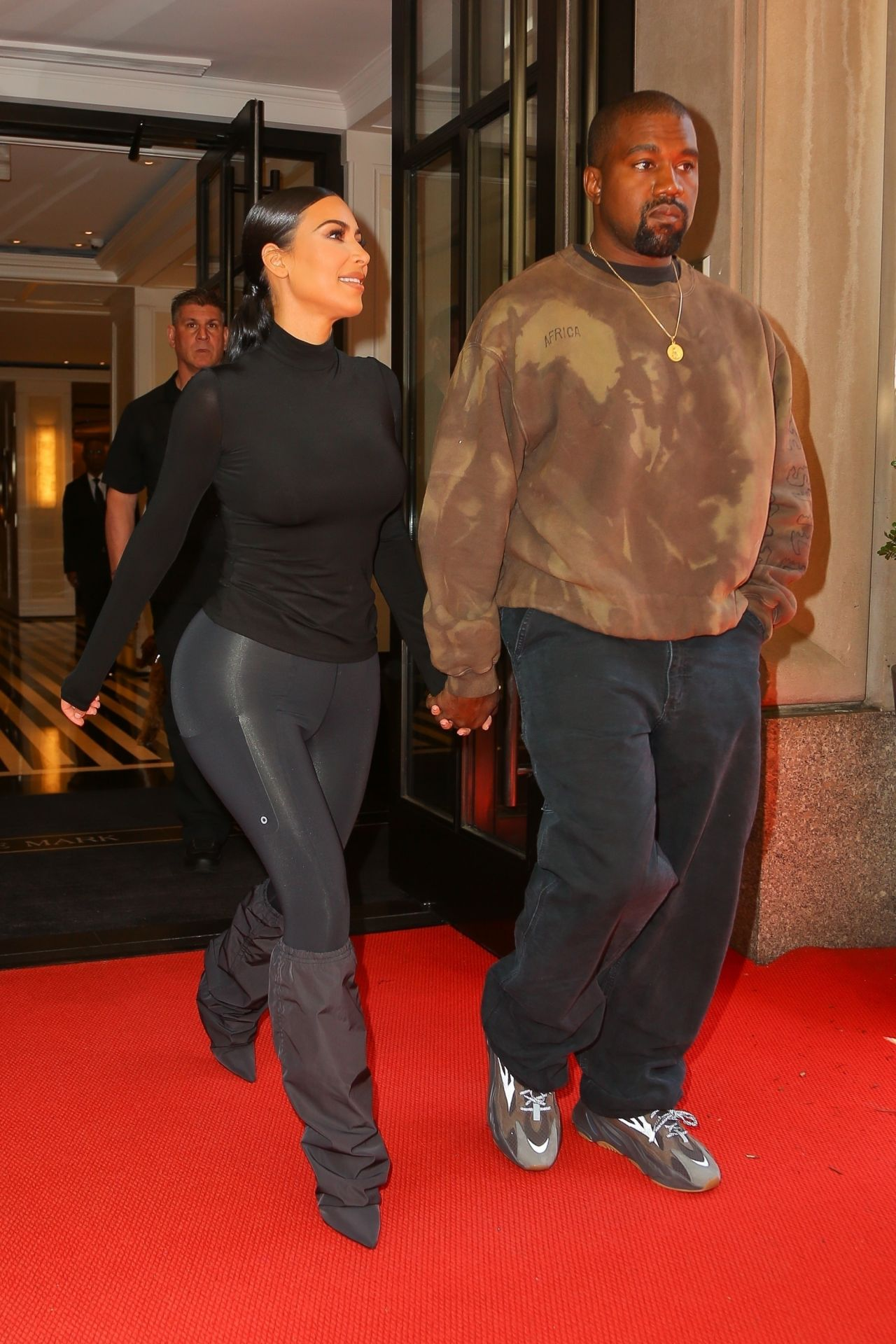 01ac3ec5a15d Kim Kardashian and Kanye West – Exit Their Hotel in New York 05/07/2019
