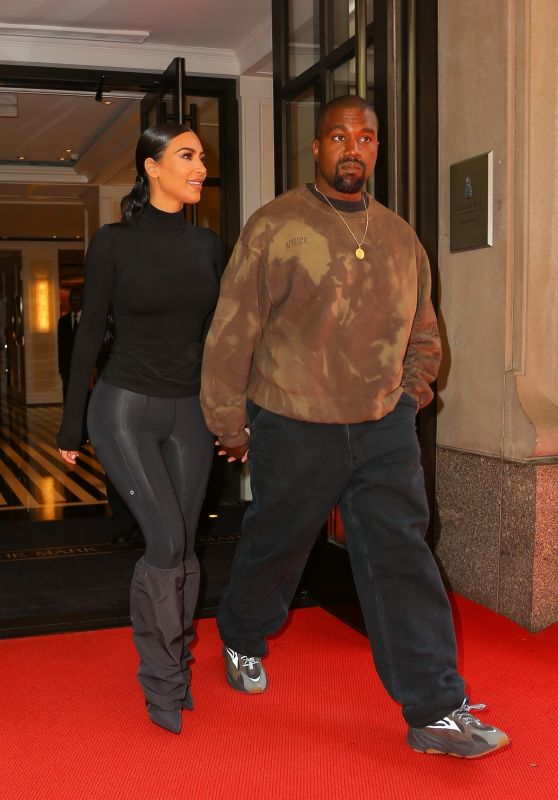 Kim Kardashian and Kanye West - Exit Their Hotel in New York 05/07/2019