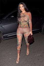 Kim Kardashian - Heading to Travis Scott