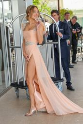 Kimberley Garner – Outside the Martinez Hotel in Cannes 05/22/2019