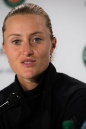 Kristina Mladenovic – Talks to the Press Ahead of the Roland Garros in Paris 05/24/2019
