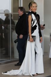 Lady Victoria Hervey - Leaving Hotel Martinez in Cannes 05/22/2019