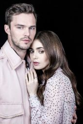 """Lily Collins and Nicholas Hoult - LA Times Portraits for """"Tolkien"""", May 2019"""