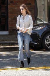 Lily Collins at il Piccolino in West Hollywood 05/29/2019